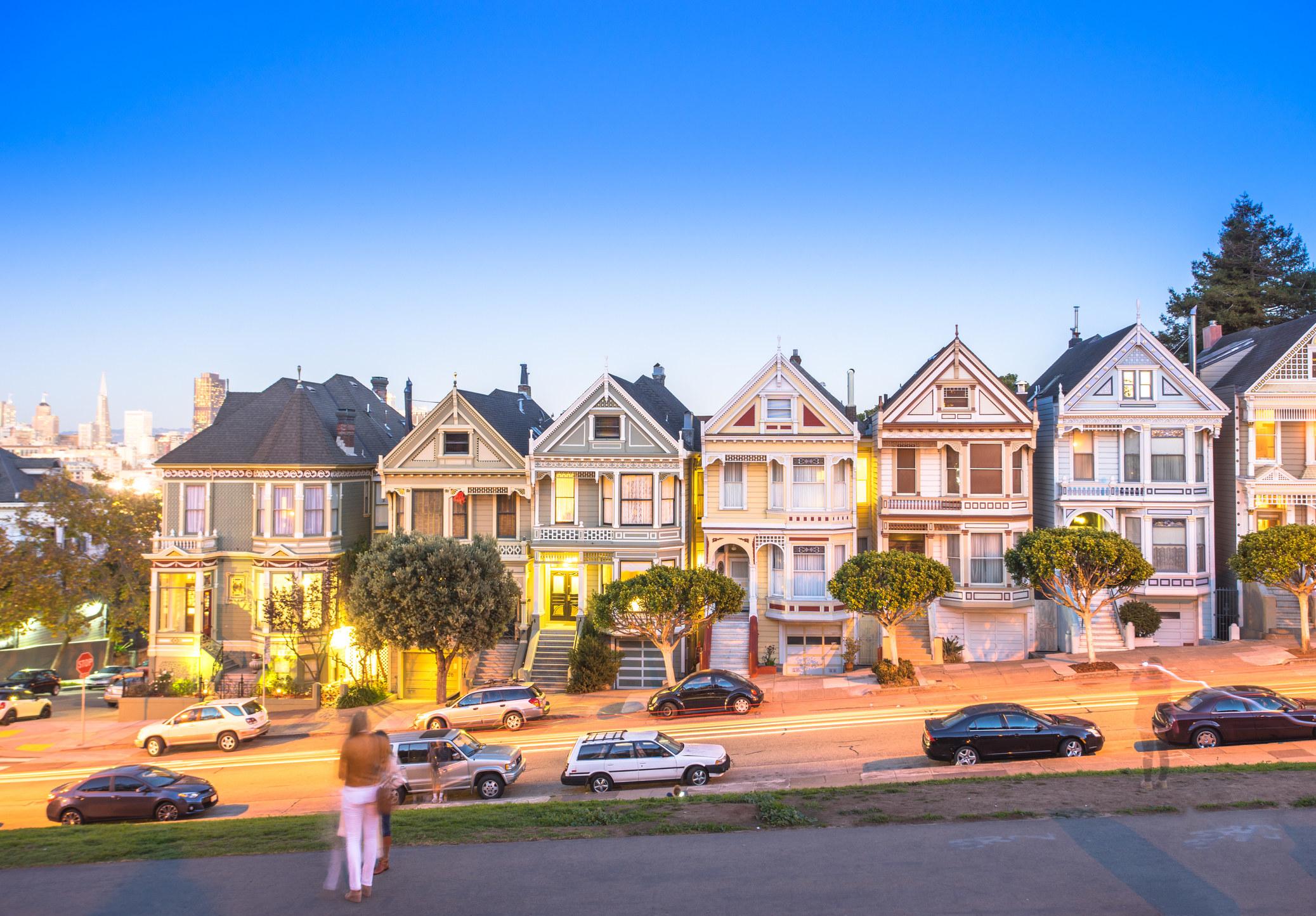The Painted Ladies landmark homes in San Francisco