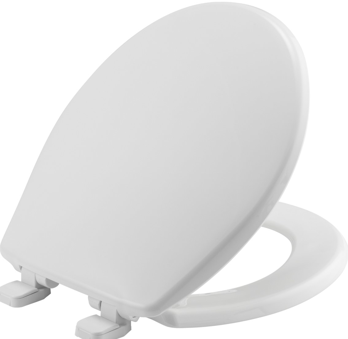 The slow close toilet seat cover in white