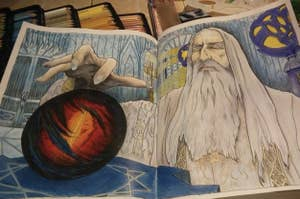 reviewer photo of the Lord of the Rings coloring book