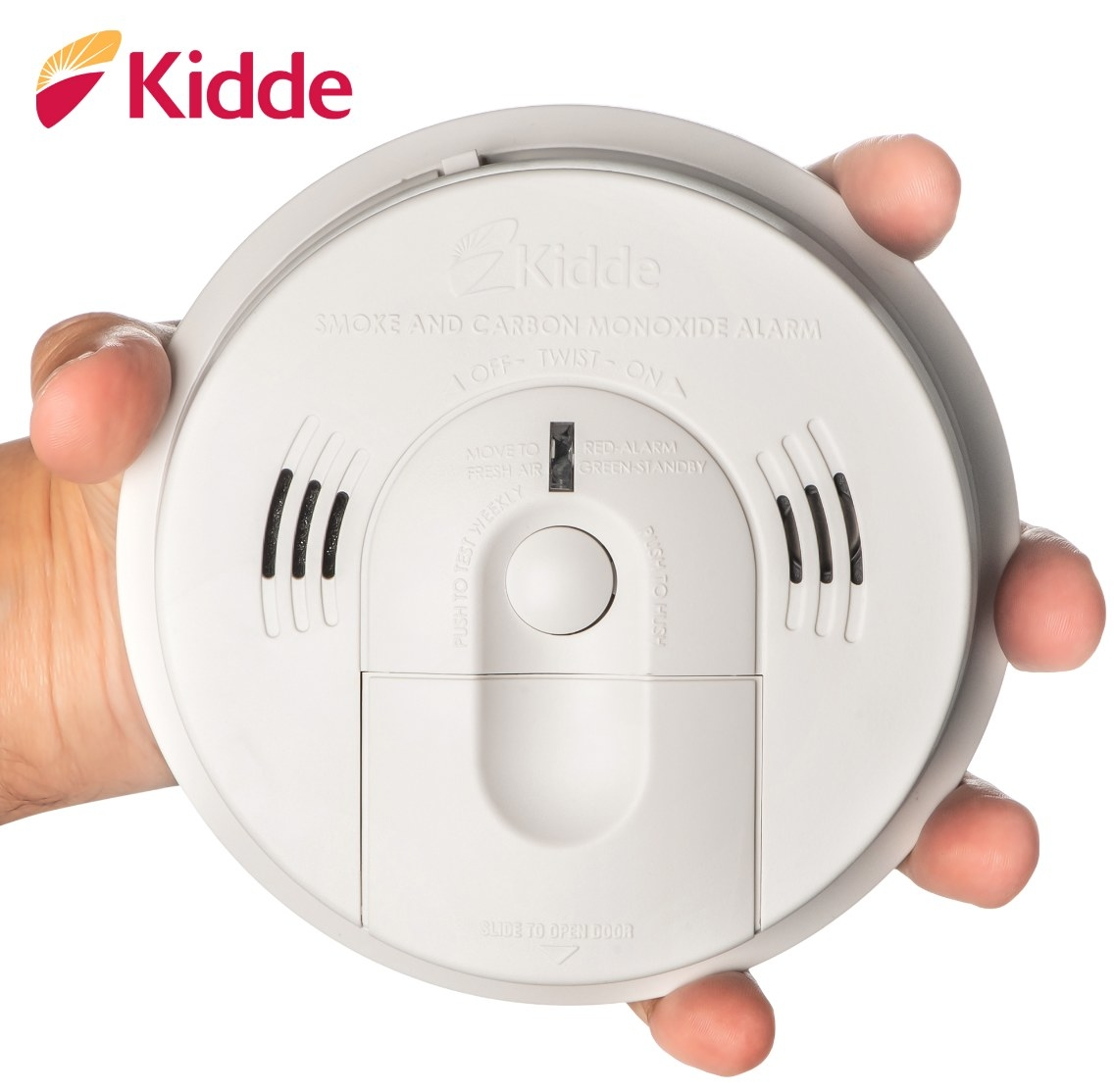 The battery-operated carbon monoxide detector