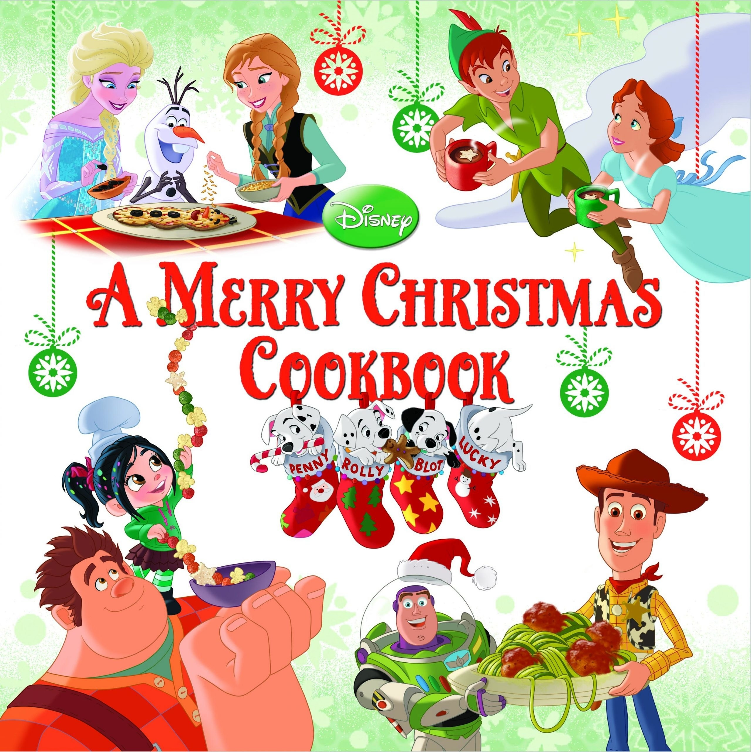 """Cover """"A Merry Christmas Cookbook"""" by Disney Book Group"""