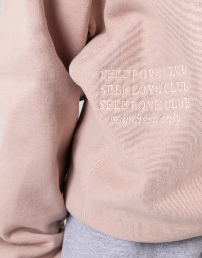 Self Love Club embroidered crewneck