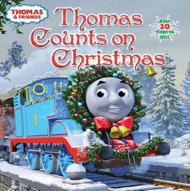 """Cover of """"Thomas Counts on Christmas"""" by Random House"""
