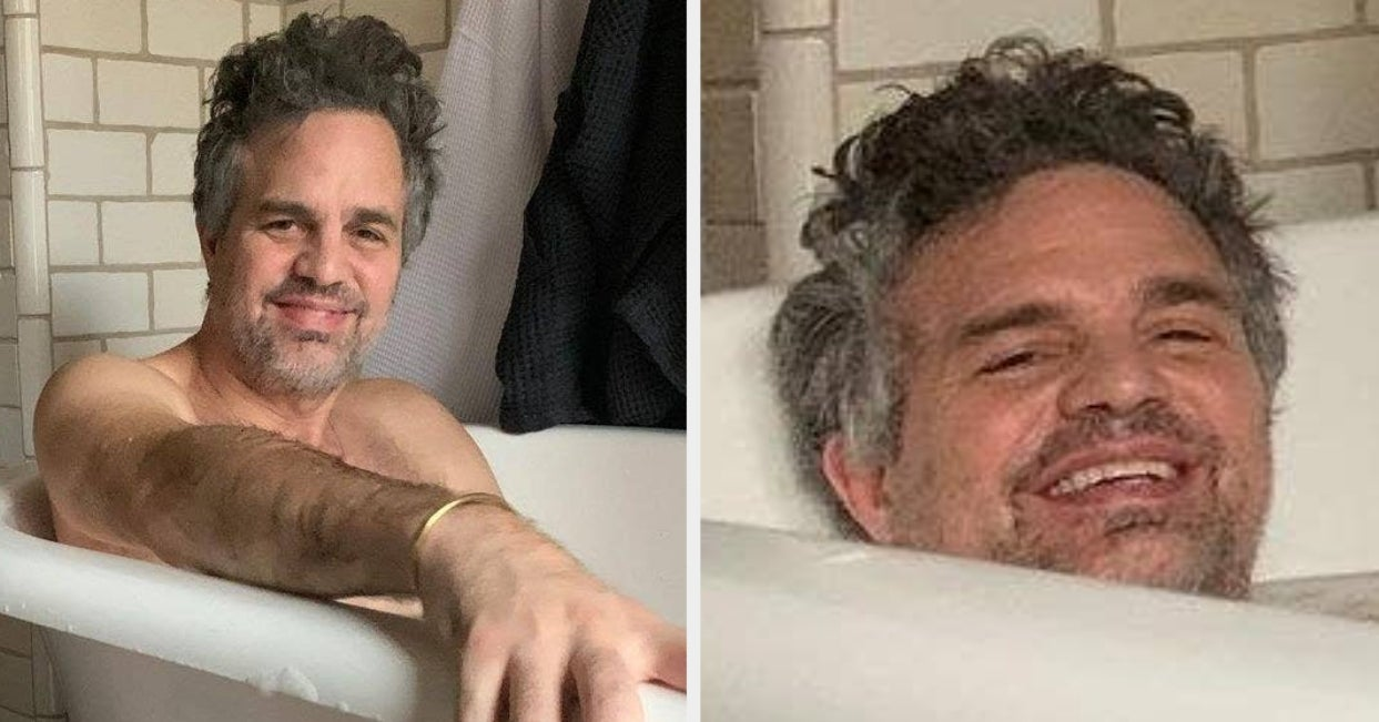 What's This? Oh, It's Just Mark Ruffalo Taking A Bubble Bath