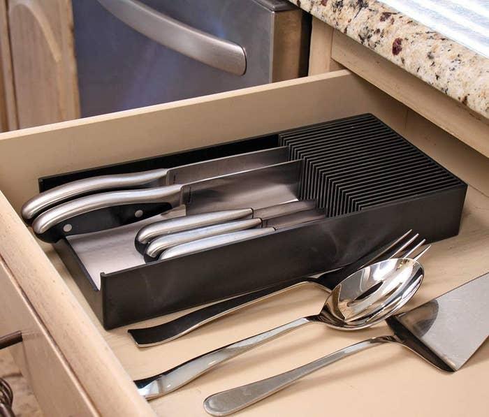 knife dock stored in drawer