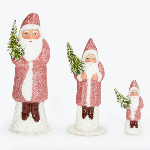 light pink santa decorations