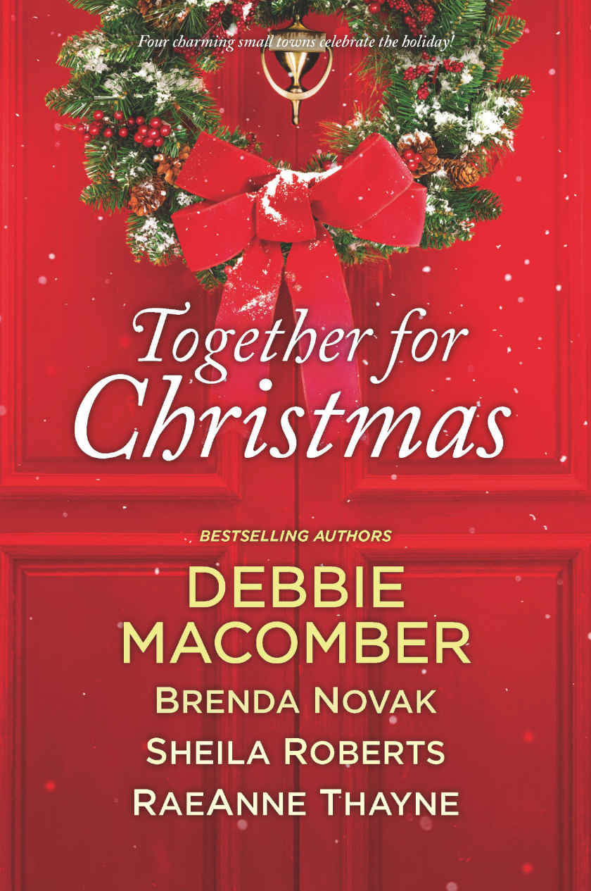 """Cover of """"Together for Christmas"""" by Debbie Macomber, Brenda Novak, Sheila Roberts, and Raeanne Thayne"""