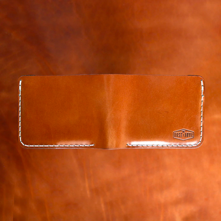 Front of leather wallet