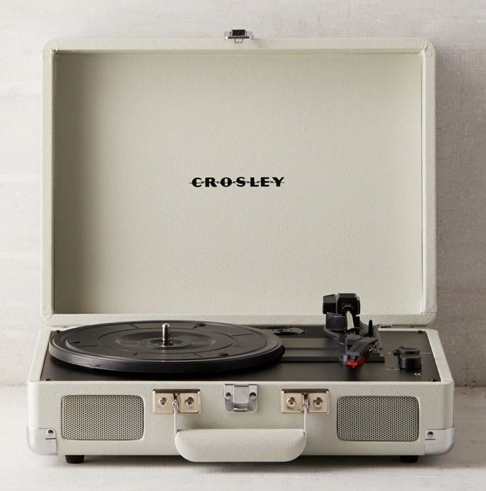 Crosley dove grey cruiser record player