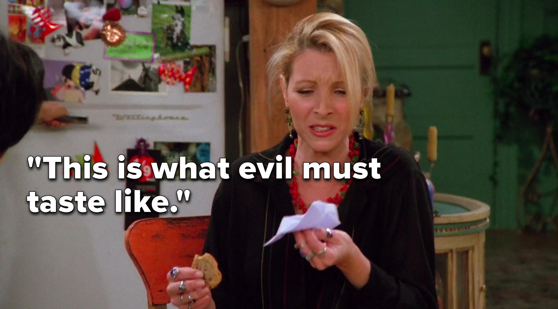 "Phoebe says, ""This is what evil must taste like"""