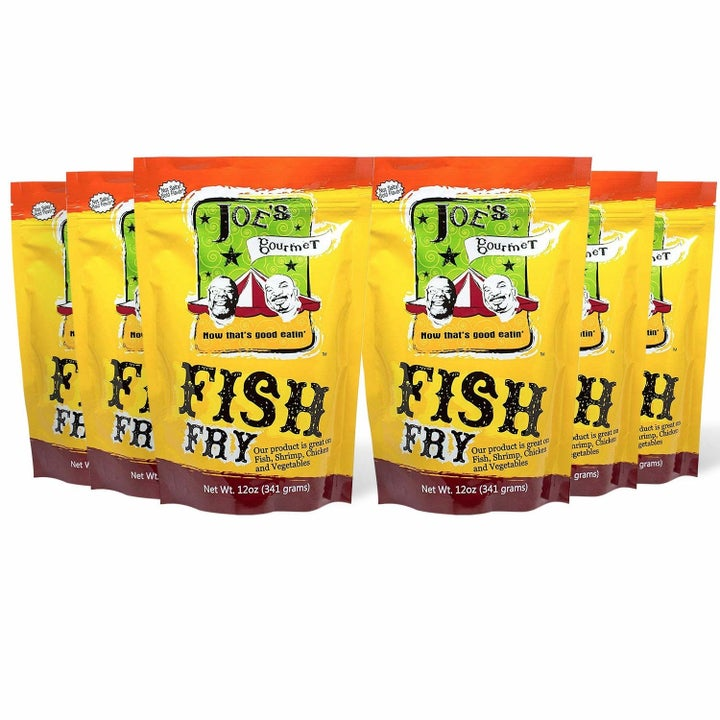 six bags of the fish fry mix