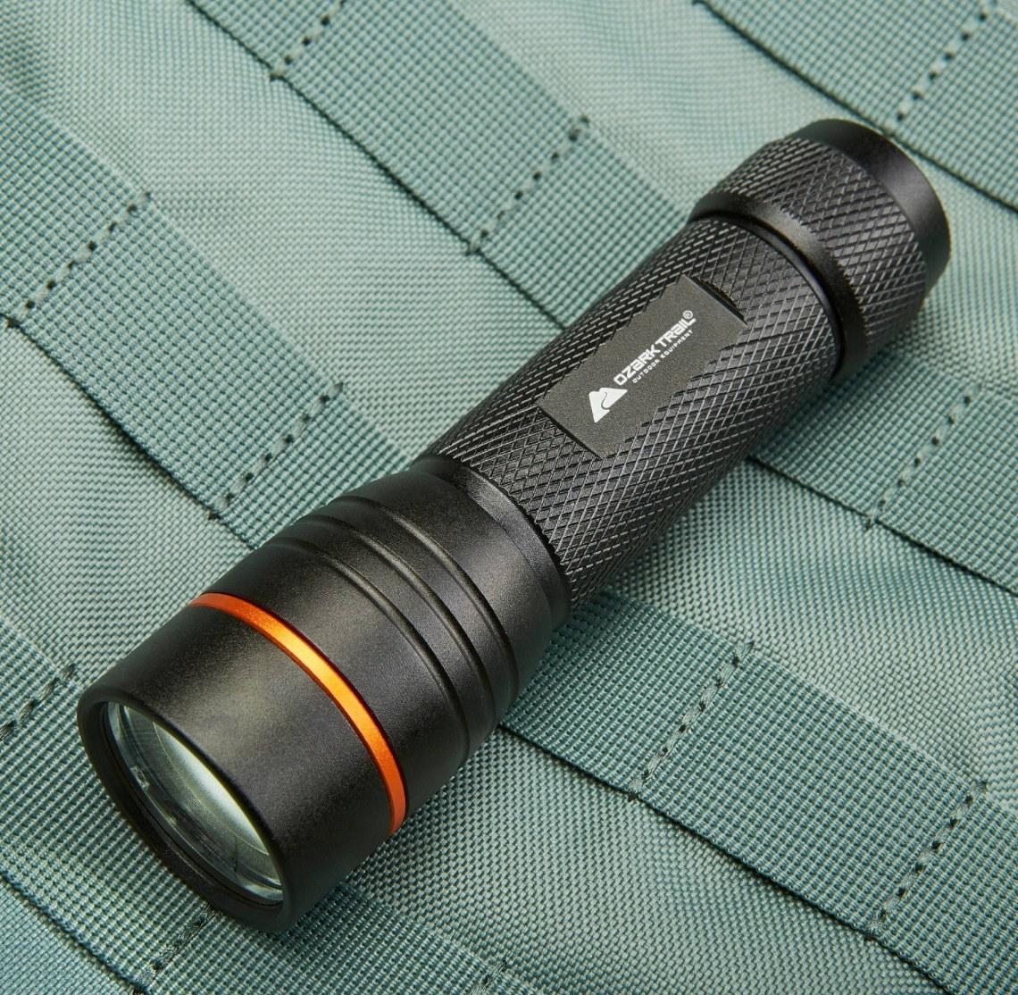 The LED flashlight in black
