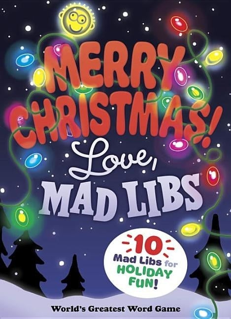 """Cover of """"Merry Christmas! Love, Mad Libs"""" activity book"""