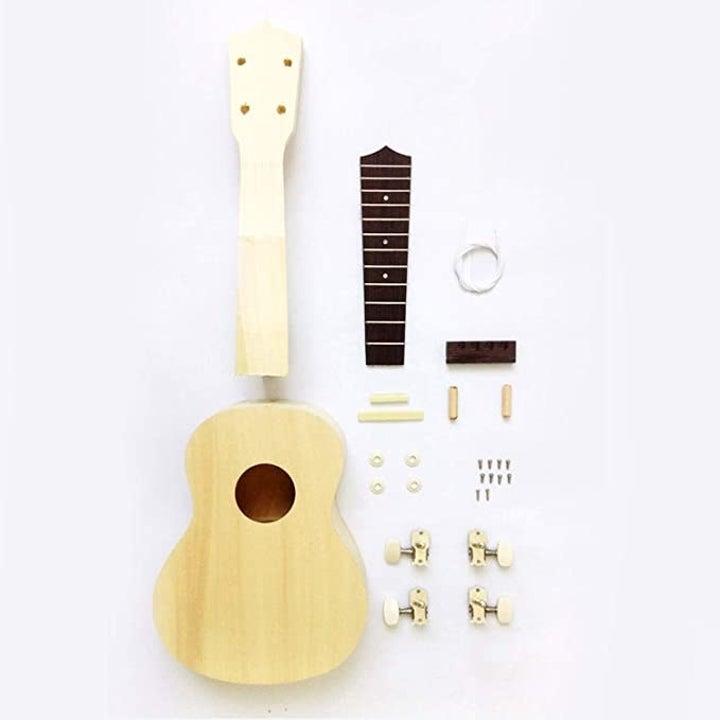 The disassembled ukulele