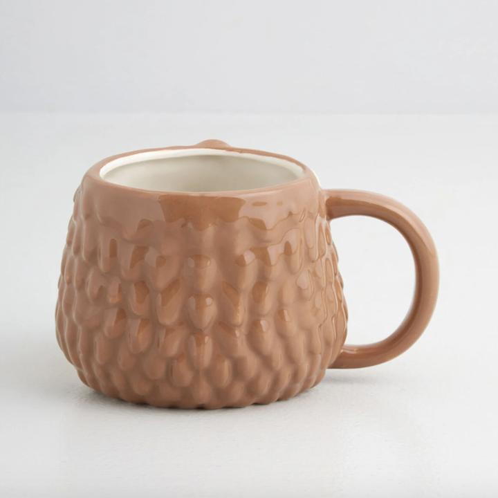 the back of the mug's hedgehog body