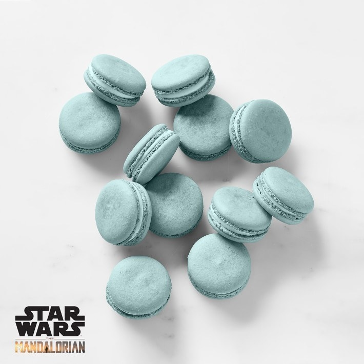 Blue macarons from Williams Sonoma