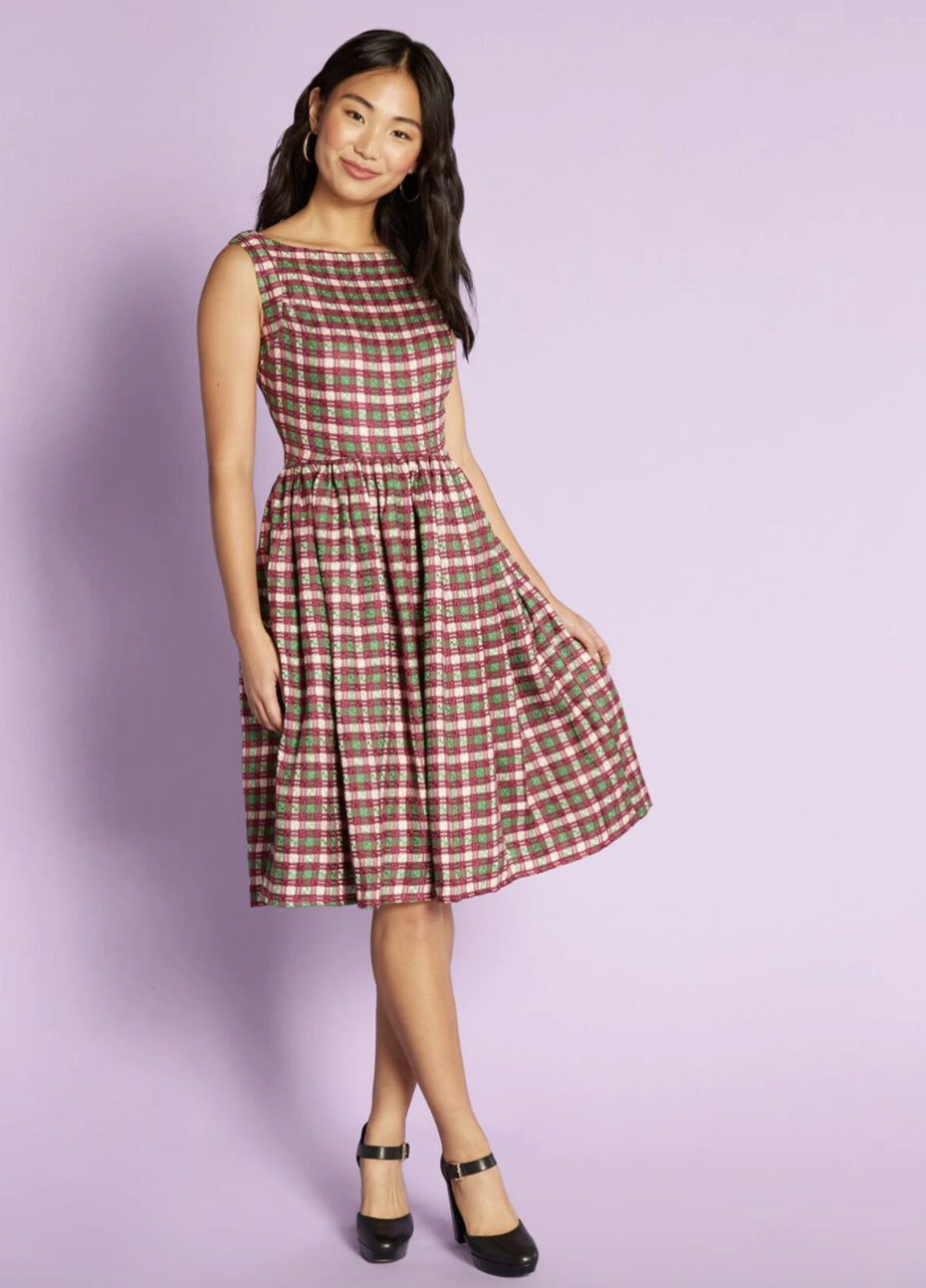 the plaid dress
