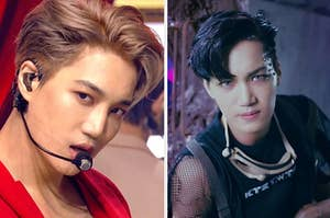 Kai in the music video for Power and Love Shot