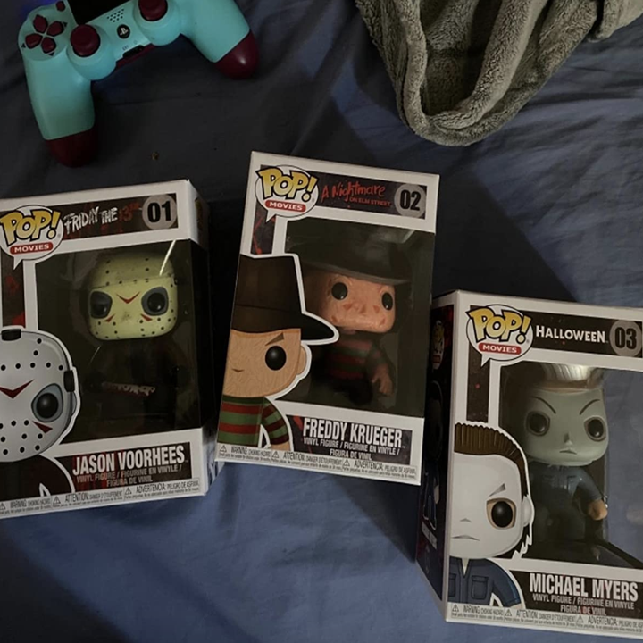 reviewer photo of the three Funko pops