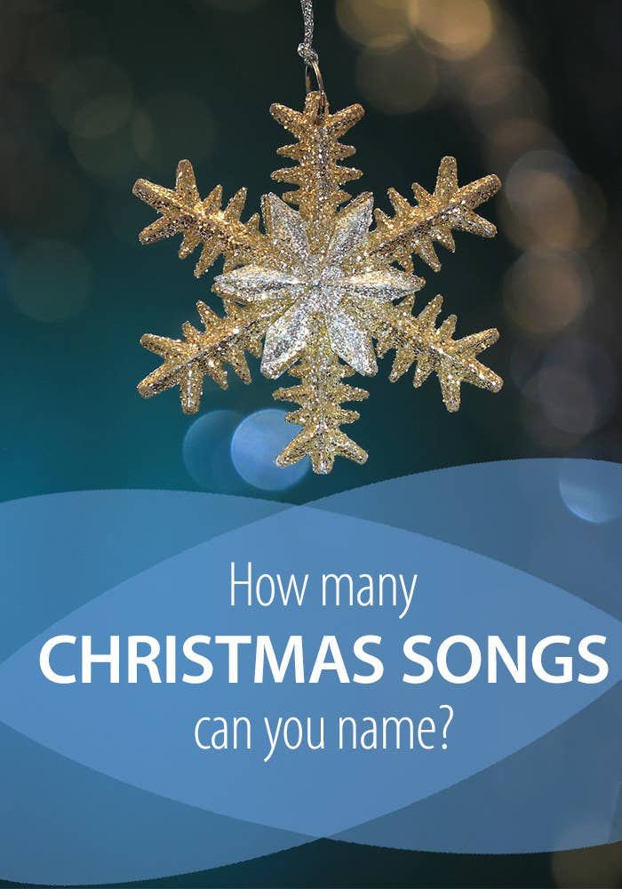 How many Christmas songs can you name?