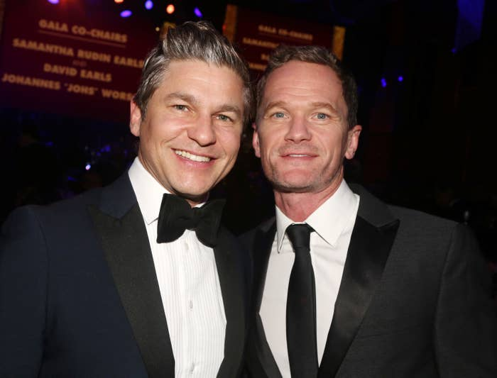 Neil Patrick Harris posing with his husband David Burtka