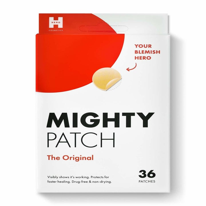 The red and white box which comes with 36 patches