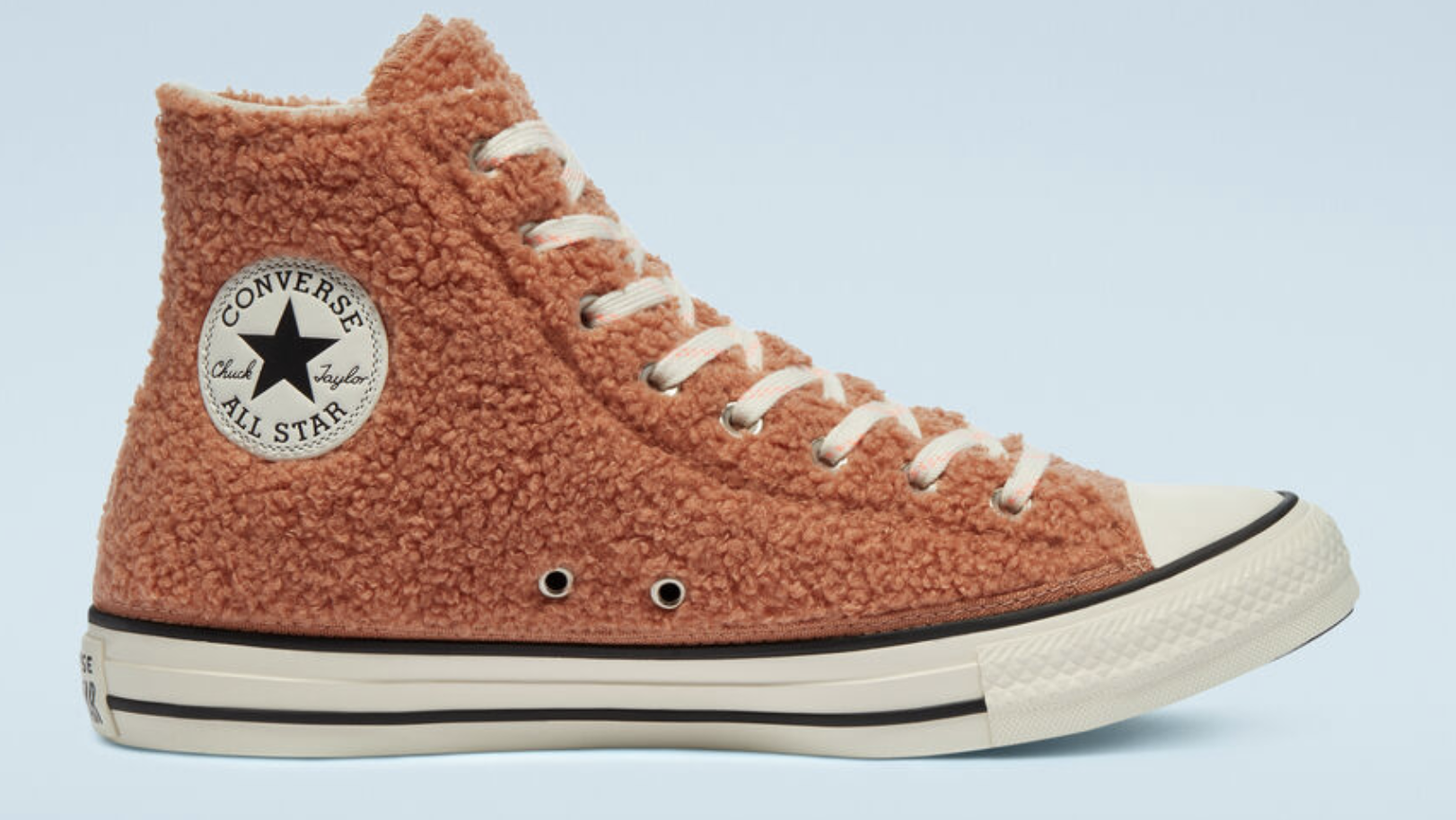 Cozy Club Chuck Taylor Converse in ginger rose