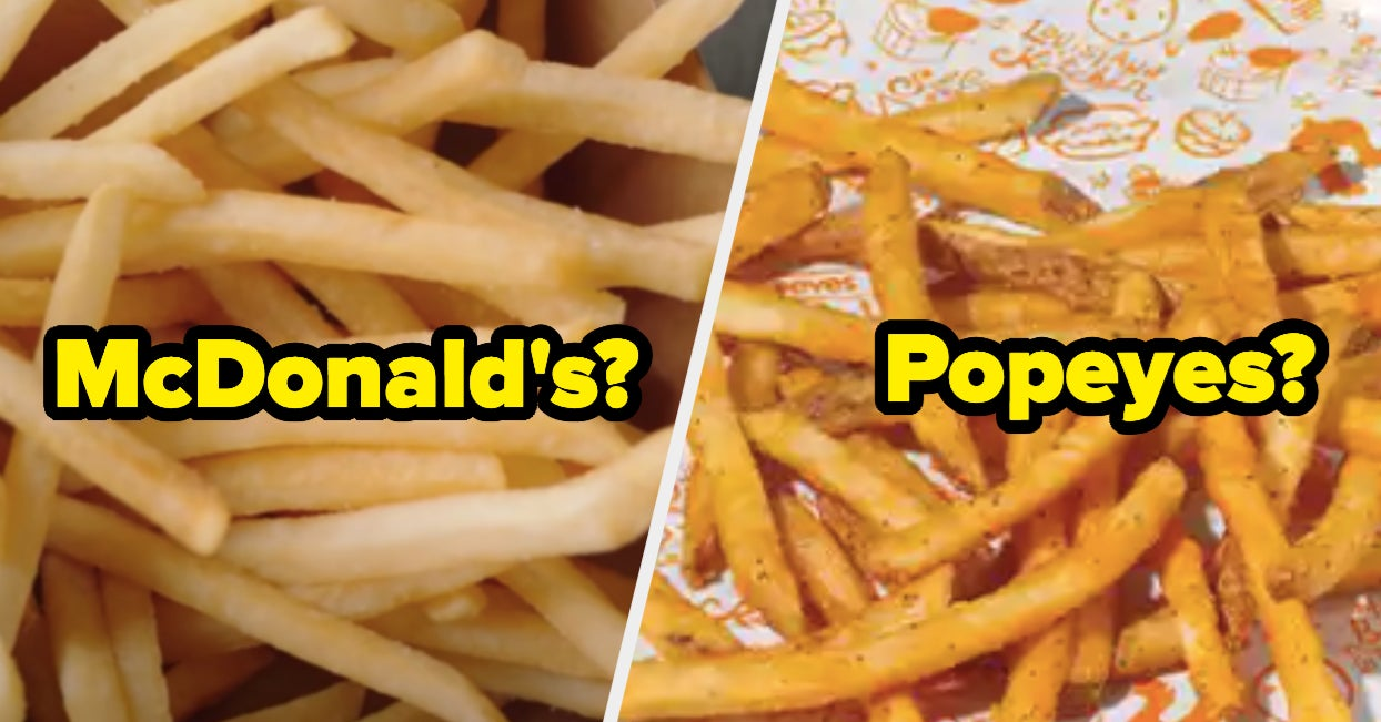 Can You Correctly Match These French Fries To The Fast Food Restaurant They Are From?