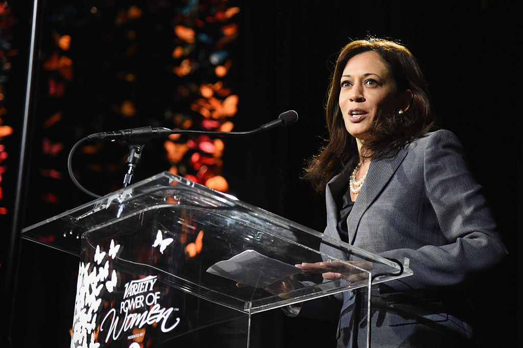 California Attorney General Harris speaks at Variety's Power of Women event