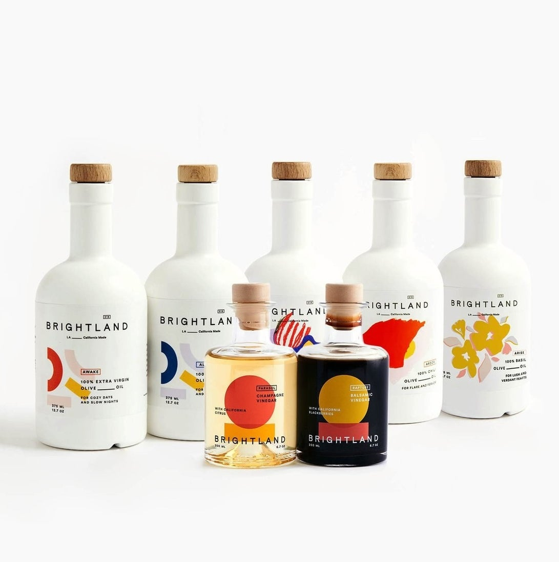 The Golden State Capsule set of olive oils and vinegars