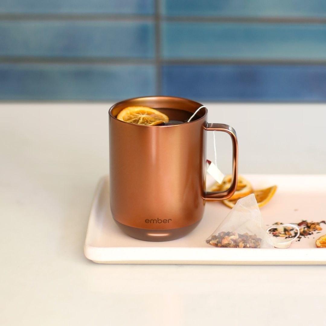 The smart mug in copper