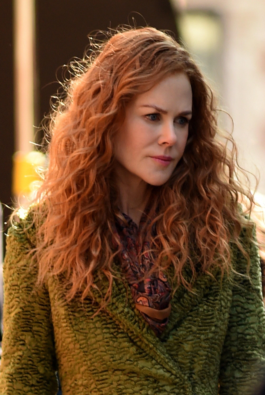 Nicole Kidman on-set