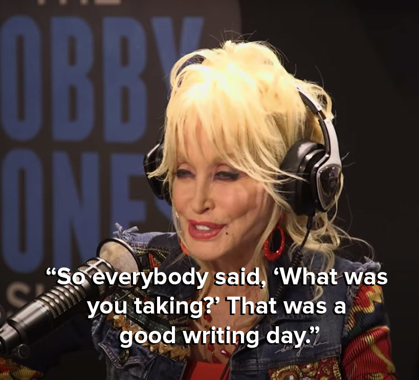 Dolly says everyone asked her what she was taking that day