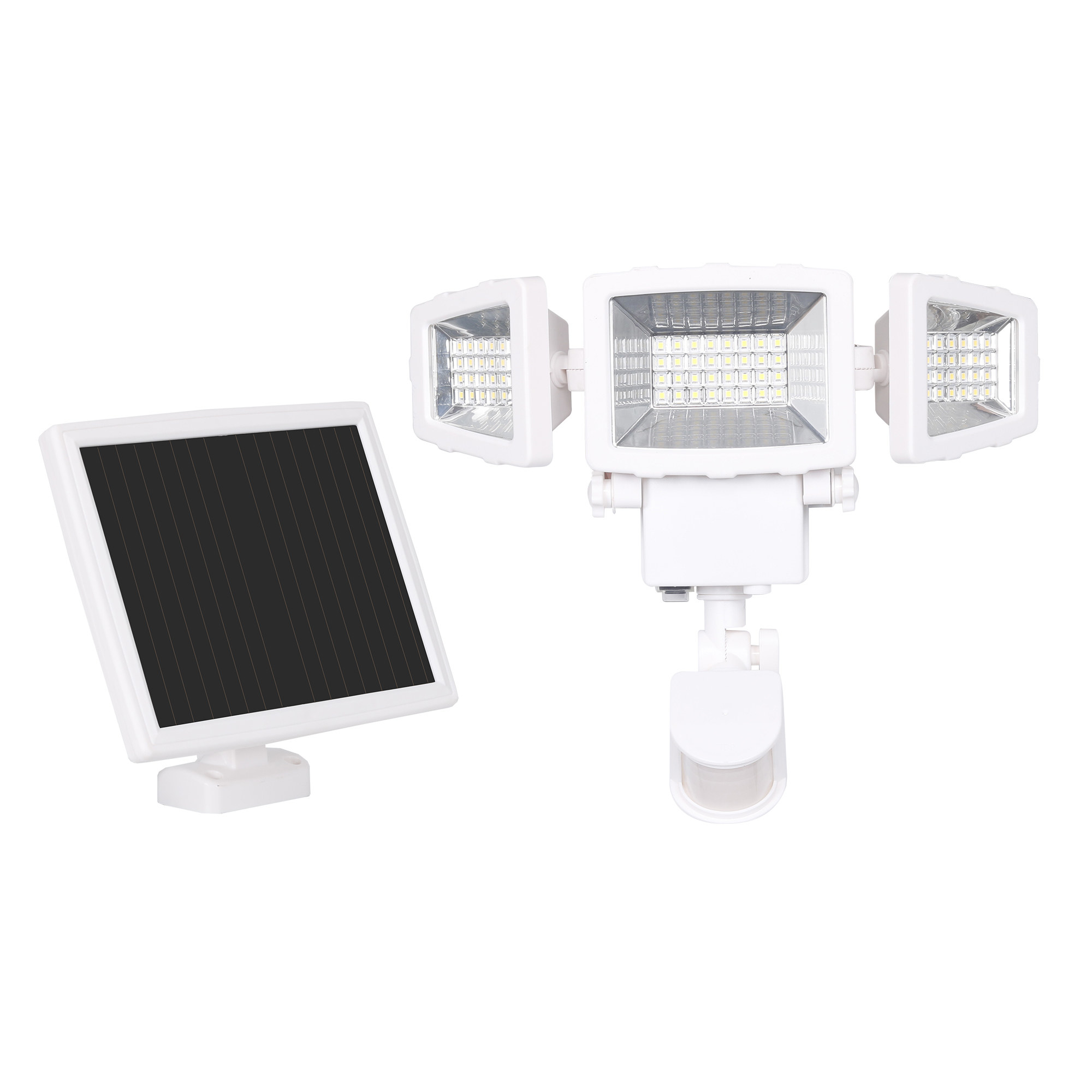 The white solar panel and security light