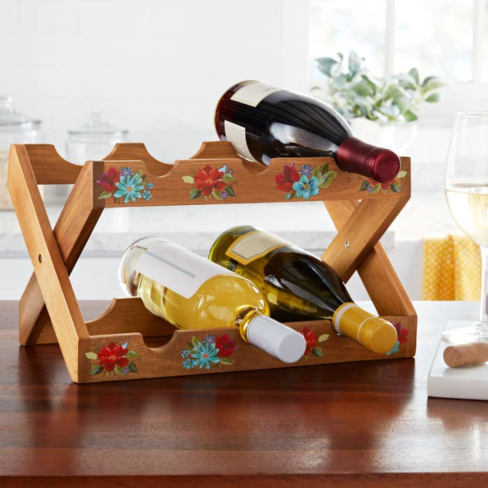 The floral wine rack