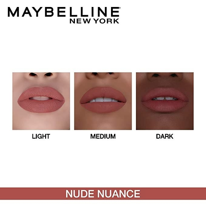 The lipstick on different skin tones.