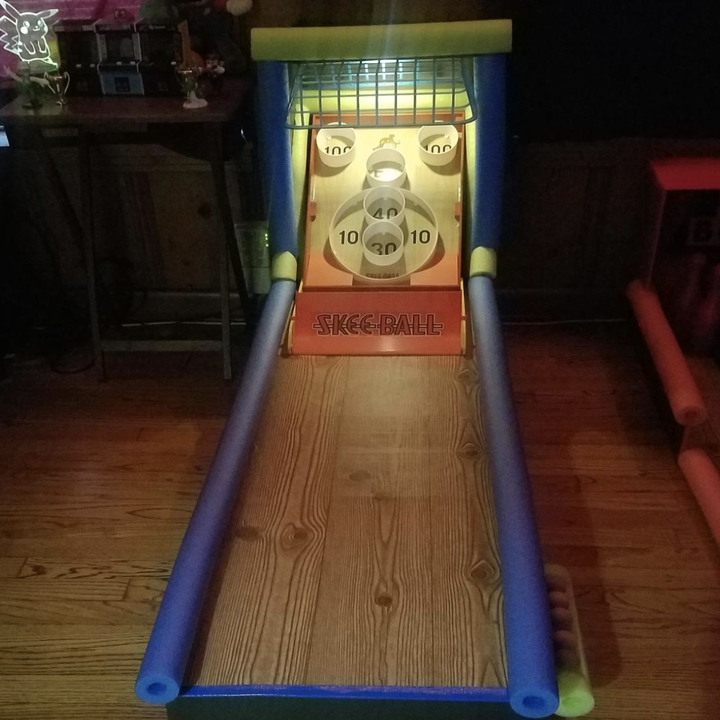 reviewer photo of an upgraded skee-ball game