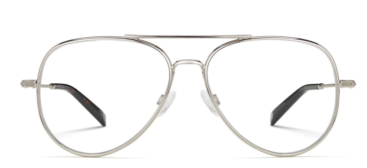 Pair of silver eyeglasses