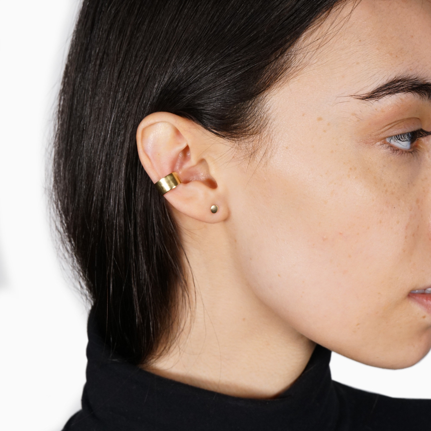 model wearing earring cuff