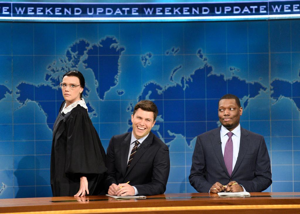 Kate McKinnon as Ruth Bader Ginsburg on Weekend Update