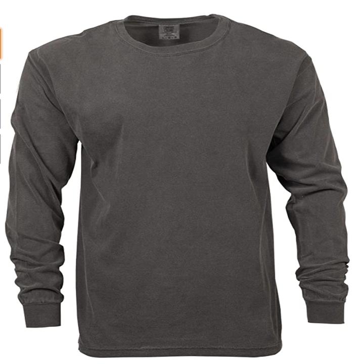 Gray long sleeved t-shirt