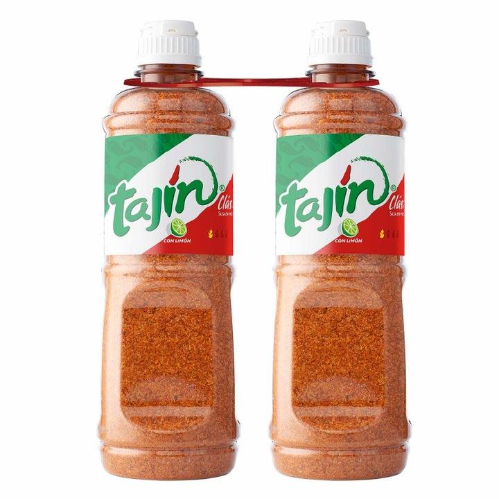 Two bottles of Tajín Clásico seasoning