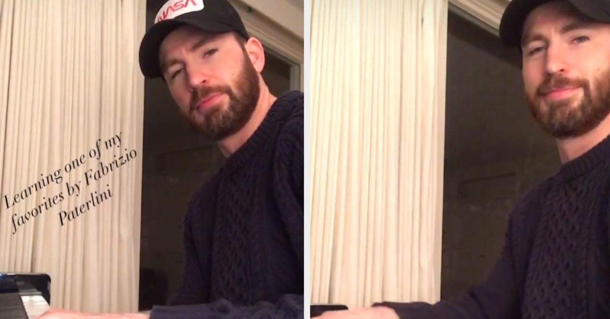 If You're Having A Bad Day, Allow Me To Show You Chris Evans Playing The Piano In A Sweater