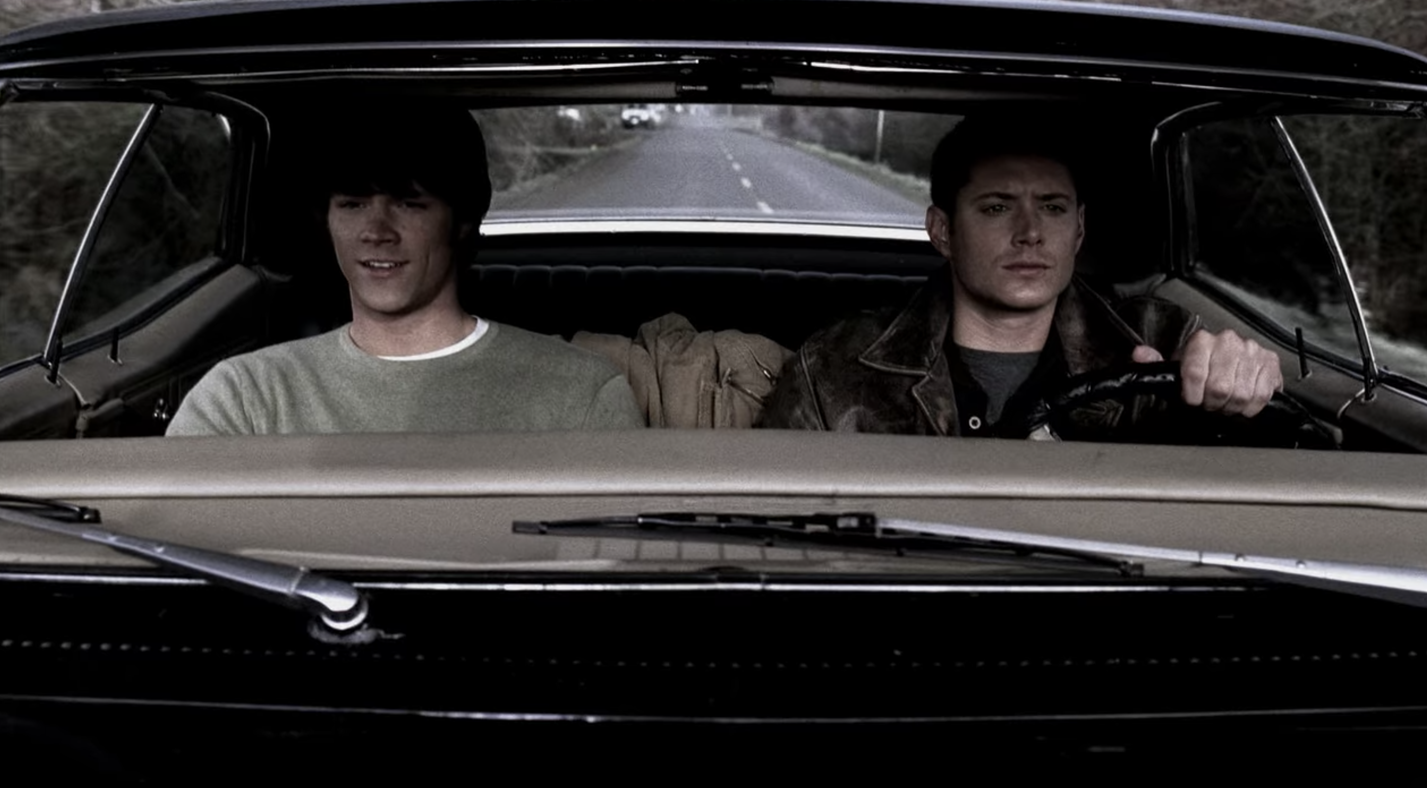 Sam and Dean driving