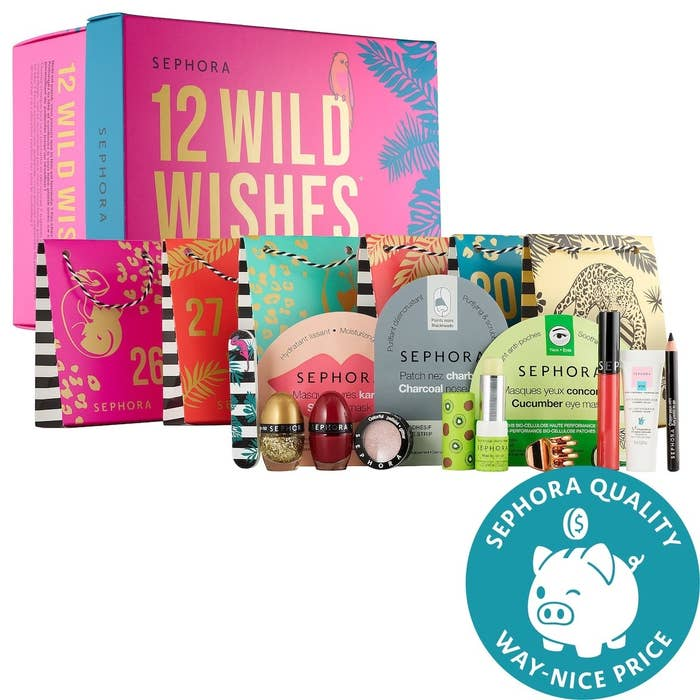 the advent calendar complete with an array of face masks and other sephora products