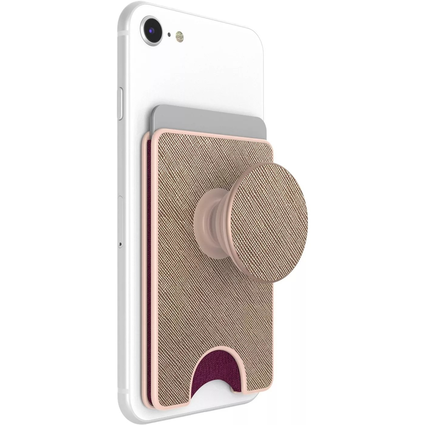 The pink and rose gold PopSockets PopWallet