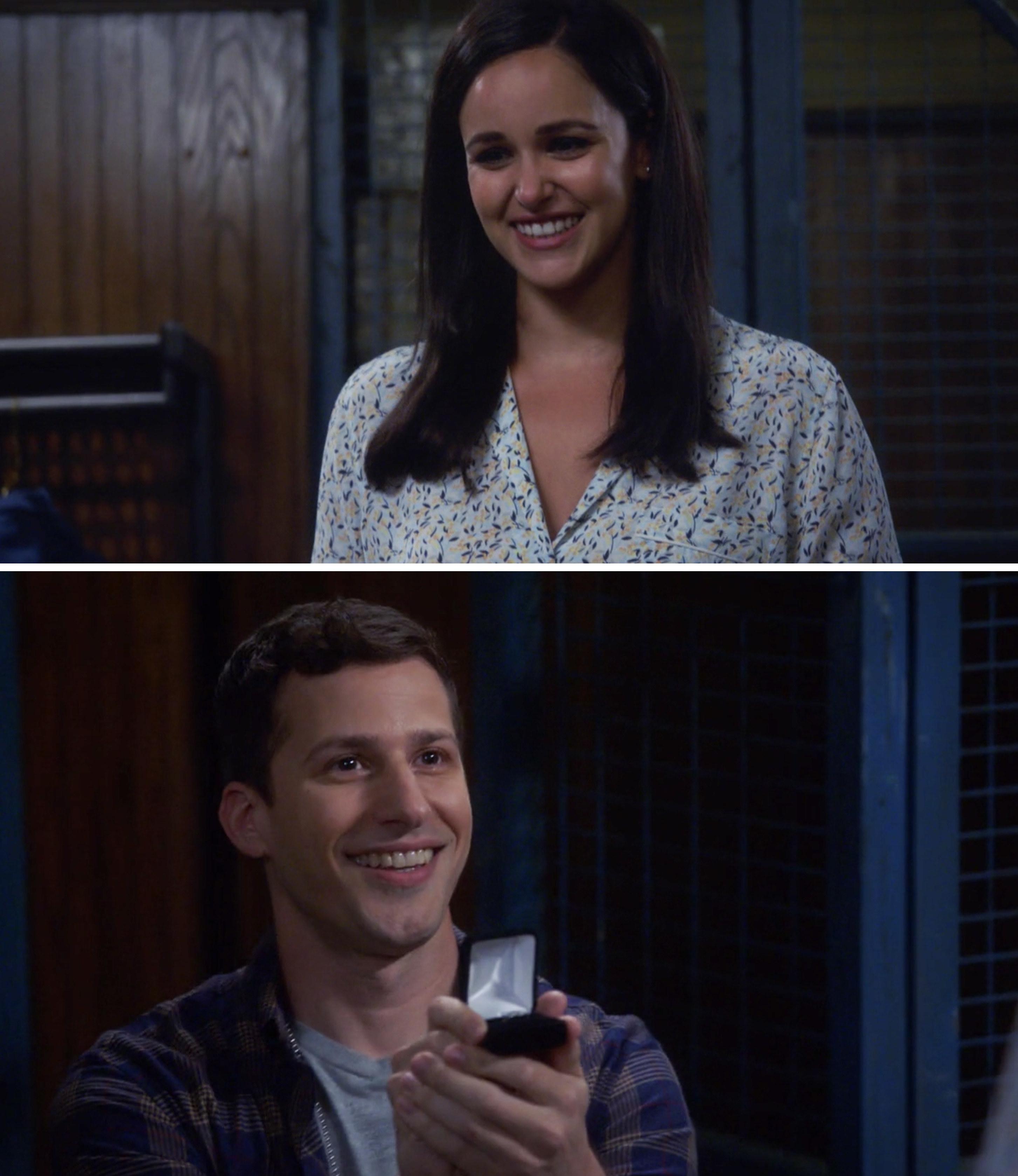 Jake proposing to Amy