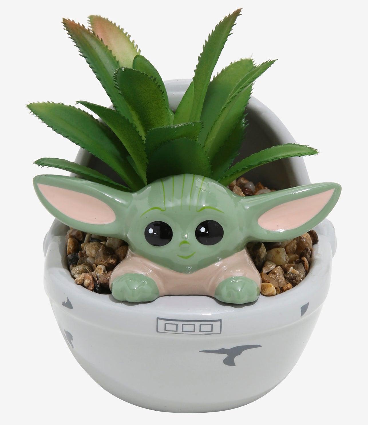 the Baby Yoda planter