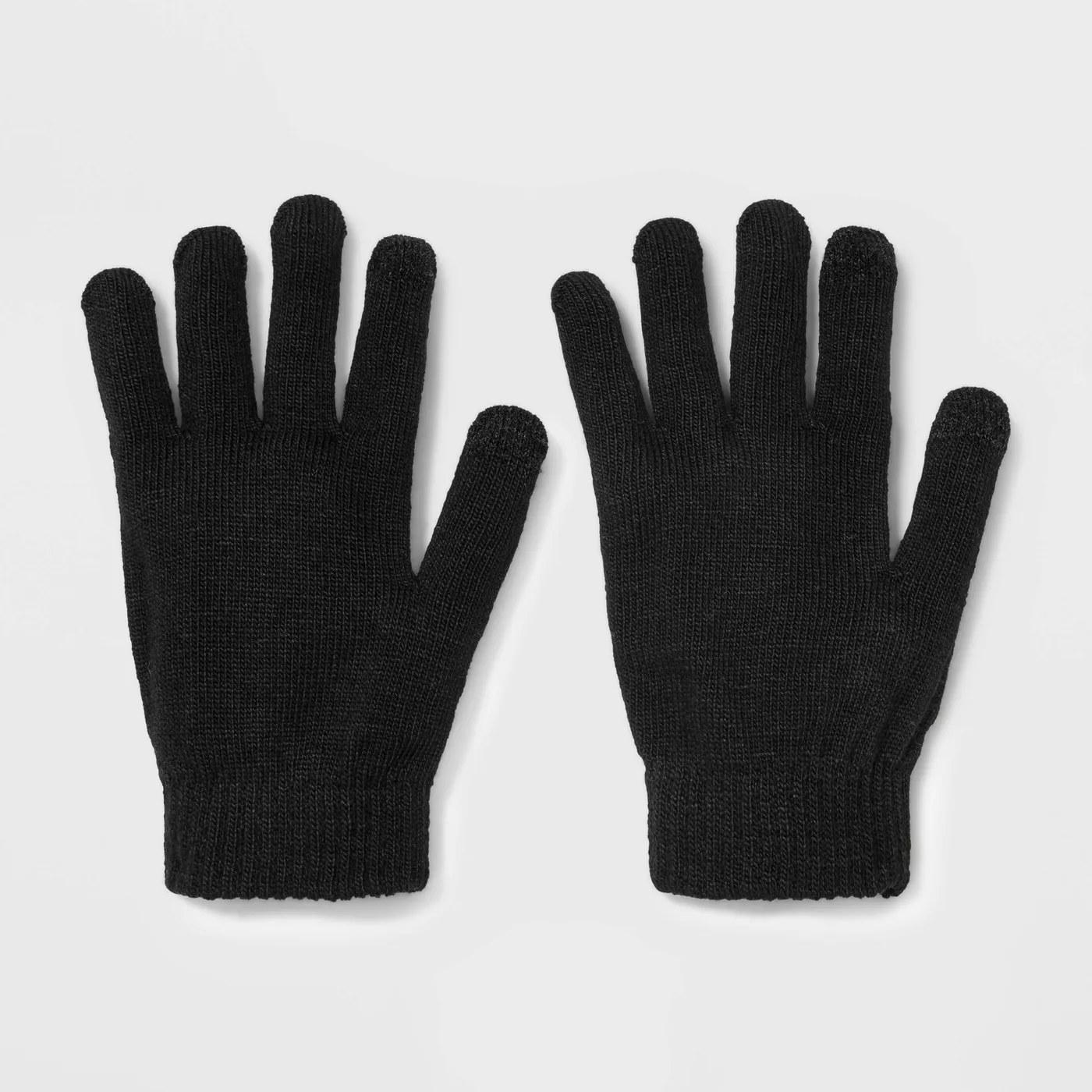 The gloves in black