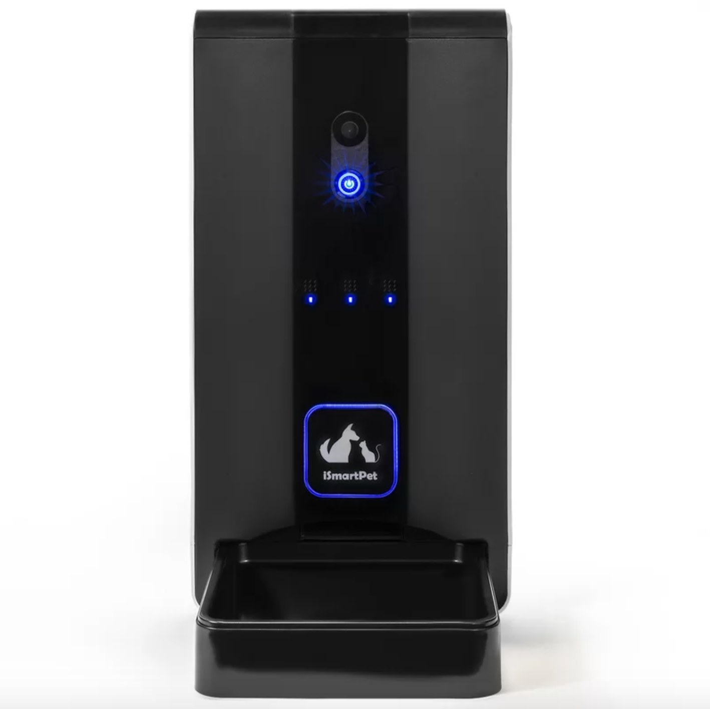 The automatic pet feeder in black